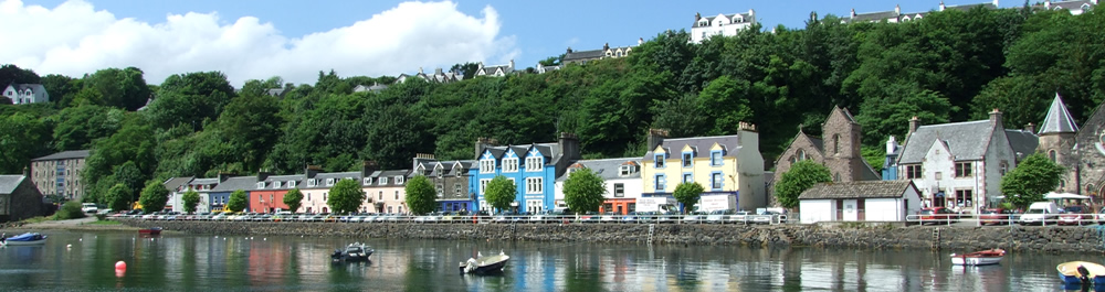 Trip to Tobermory while staying at Air an Oir holiday house Ardnamurchan Scotland