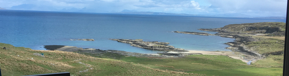 View from living room at Air an Oir Ardnamurchan Scotland