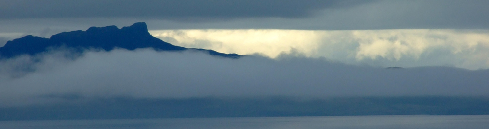 Misty Eigg from Air an Oir Ardnamurchan Scotland