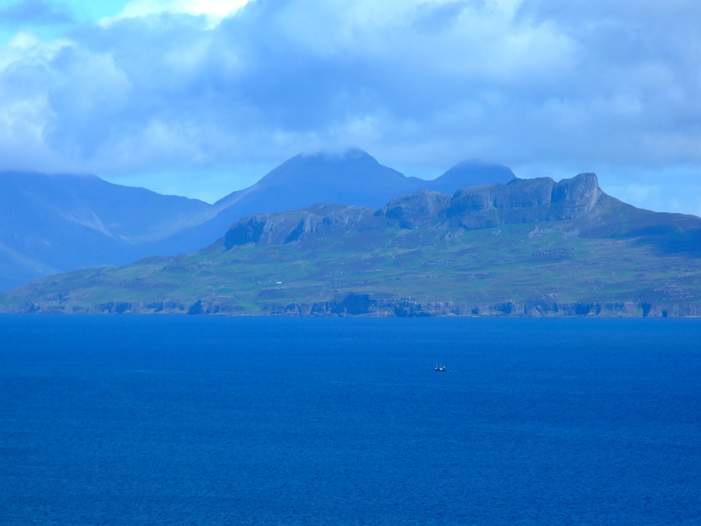 Isle of Eigg with Rhum behind
