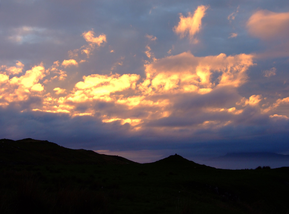 Firey sky from Air an Oir self catering Ardnamurchan