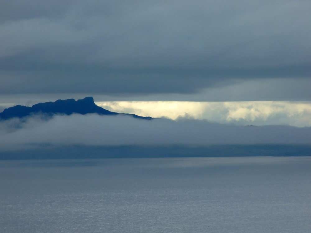 Isle of Eigg in Scotch Mist