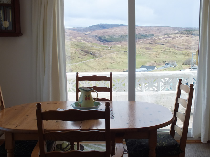 Views from Dining room at Air an Oir Ardnamurchan Scotland