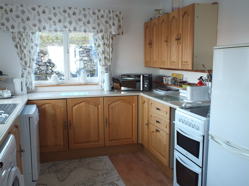 Kitchen at Air an Oir holiday house for adults only in Ardnamurchan Scotland