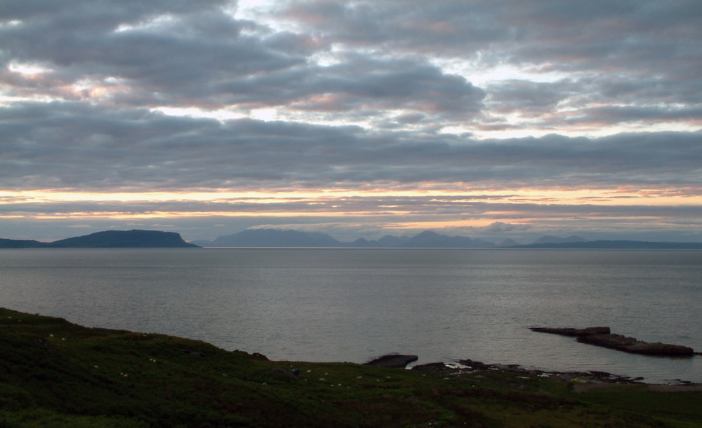 Skye & Eigg Sunset from Air an Oir